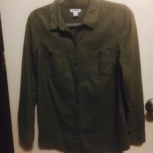 Olive Military style Old Navy button-up